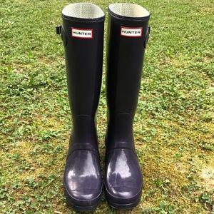 Hunter Navy Blue Rain-Boots  Size US M9/F10